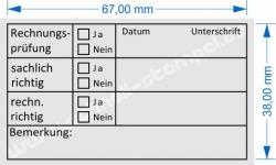 Holzstempel 40x70 Buchhaltungsstempel Rechnungsprüfung