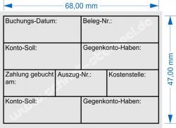 Holzstempel 50x70 Buchung Datum Gegenkonto Kostenstelle