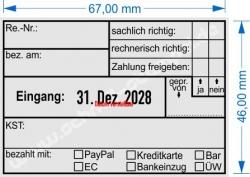 5480 Trodat Professional Rechnung bezahlt am bezahlt mit