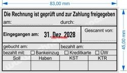 54110 Trodat Buchungsstempel Rechnung ist geprüft und zur Zahlung freigegeben