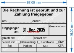 5480 Trodat Buchungsstempel Rechnung geprüft
