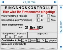 54110 Trodat Professional Eingangskontrolle Firmenname