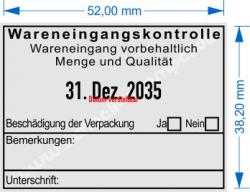 5480 Trodat Professional Wareneingangskontrolle