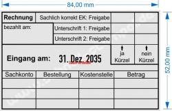 54110 Trodat Professional Rechnungskontrolle Einkauf Sachkonto Bestellung Kostenstelle Betrag