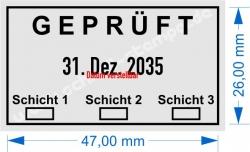 5440 Trodat Professional  Geprüft 3 Schichten