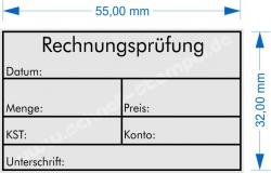 5206 Trodat Stempel Professional Rechnungsprüfung-Menge-Preis-KST-Konto