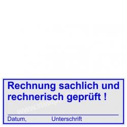 4913 Trodat Printy Rechnungsprüfung Rechnung sachlich rechnerisch geprüft Unterschrift