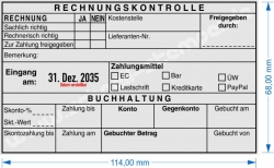 54120 L Trodat Professional Rechnungskontrolle Zahlungsmittel gebuchter Betrag