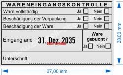 5480 Trodat Professional Wareneingangskontrolle Ware gebucht