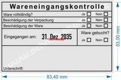 54110 Trodat Wareneingangskontrolle Ware gebucht