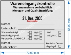 54120 Trodat Wareneingangskontrolle Mengen- und Qualitätsprüfung ASC / MSC
