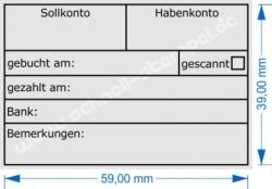 Rechnungstempel 5274 Trodat Professional Sollkonto Habenkonto Gescannt