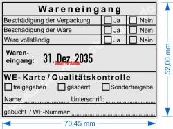54110 Trodat Wareneingang WE-Karte Qualitätskontrolle