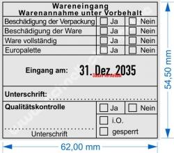 54110 Trodat Wareneingang Wareneingang Qualitätskontrolle