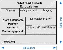 5211 Trodat Professional Europalettentausch Fehlende Paletten in Rechnung gestellt