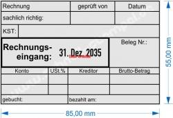54110 Trodat Rechnungseingang Kostenstelle gebucht