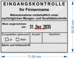54110 Trodat Professional Eingangskontrolle mit eigenem Firmenname