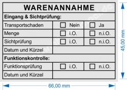 5208 Stempel Warenannahme Funktionskontrolle Sichtprüfung