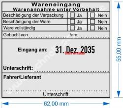 54110 Trodat Professional Stempel Warenannahme unter Vorbehalt Fahrer/Lieferant