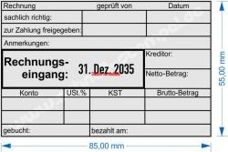 54110 Trodat Rechnungseingang-Zahlung geprüft-Kreditor-Netto/Betrag-Konto-Kostenstelle