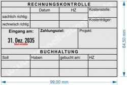 54120L Trodat Professional Rechnungskontrolle-Buchung
