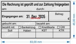 54110 Trodat Buchungsstempel Rechnung ist geprüft Betrag