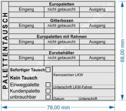 5212 Trodat Professional Palettentausch - Europalette - Gitterbox - Eurobehälter - Europaletten mit Rahmen