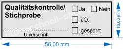 4913 Trodat Printy Stempel Qualitätskontrolle Stichprobe