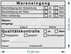 5211 Stempel Trodat Wareneingangsstempel Qualitätskontrolle Sonderfreigabe