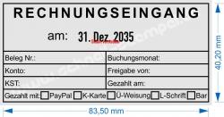 54110 Trodat Buchungsstempel Rechnungseingang am