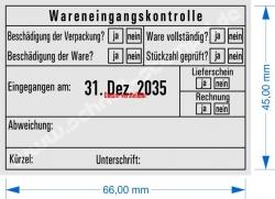 5480 Trodat Professional Wareneingangskontrolle Abweichung Stückzahl geprüft