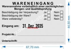 54110 Trodat Professional Stempel Wareneingang Projekt-Nummer