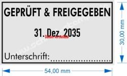 5460 Trodat GEPRÜFT und FREIGEGEBEN Unterschrift