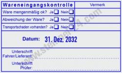 54110 Trodat Professional Wareneingangskontrolle Vermerk