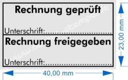 5200 Trodat Professional Stempel Rechnung geprüft - Rechnung freigegeben