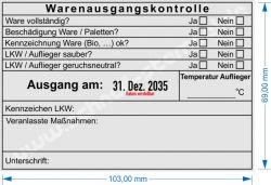 Trodat Professional 54120 Stempel Warenausgangskontrolle Kühlware Auflieger Temperatur