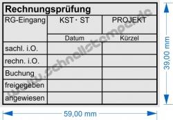5274 Stempel Rechnungsrüfung Buchung Kostenstelle Projekt