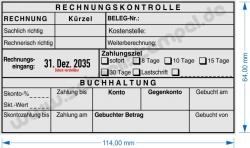 54120L Trodat Professional Rechnungskontrolle Kostenstelle Belegnummer Zahlungsziel -sofort -8 Tage -10 Tage -15 Tage -30 Tage Lastschrift