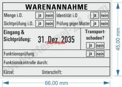 5480 Trodat Professional Stempel Warenannahme Funktionsprüfung-Sichtprüfung
