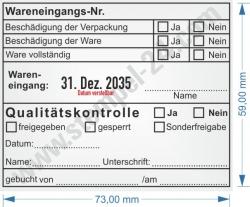 54120 Trodat Professional Stempel Wareneingangskontrolle / Wareneingangsnummer