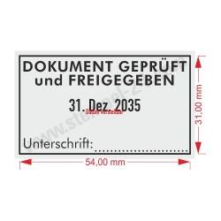 5460 Trodat Professional DOKUMENT GEPRÜFT und FREIGEGEBEN mit Unterschrift