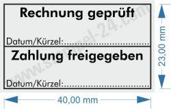 5200 Trodat Professional Rechnung geprüft / Zahlung freigegeben