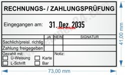 54110 Trodat Professional Rechnungsprüfung / Zahlungsprüfung