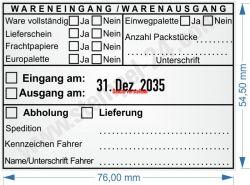 54110 Trodat Professional Warenausgangsstempel Wareneingangstempel / Abholung Lieferant