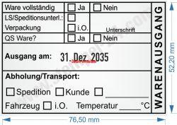54110 Trodat Professional Warenausgangsstempel Abholung Transport