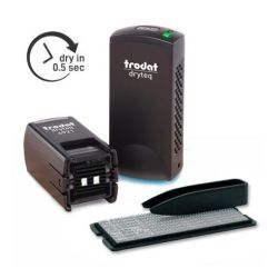 4921 Trodat Dryteq TYPO Stempelset mit UV-Härtungsgerät