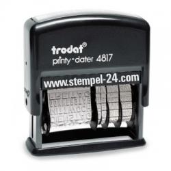 4817/B Trodat Printy Classic Wortbandstempel mit Wochentag und Datum verstellbar