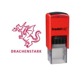 4922 Trodat Edy Fix Motivationsstempel Drachenstark und Motiv Drache