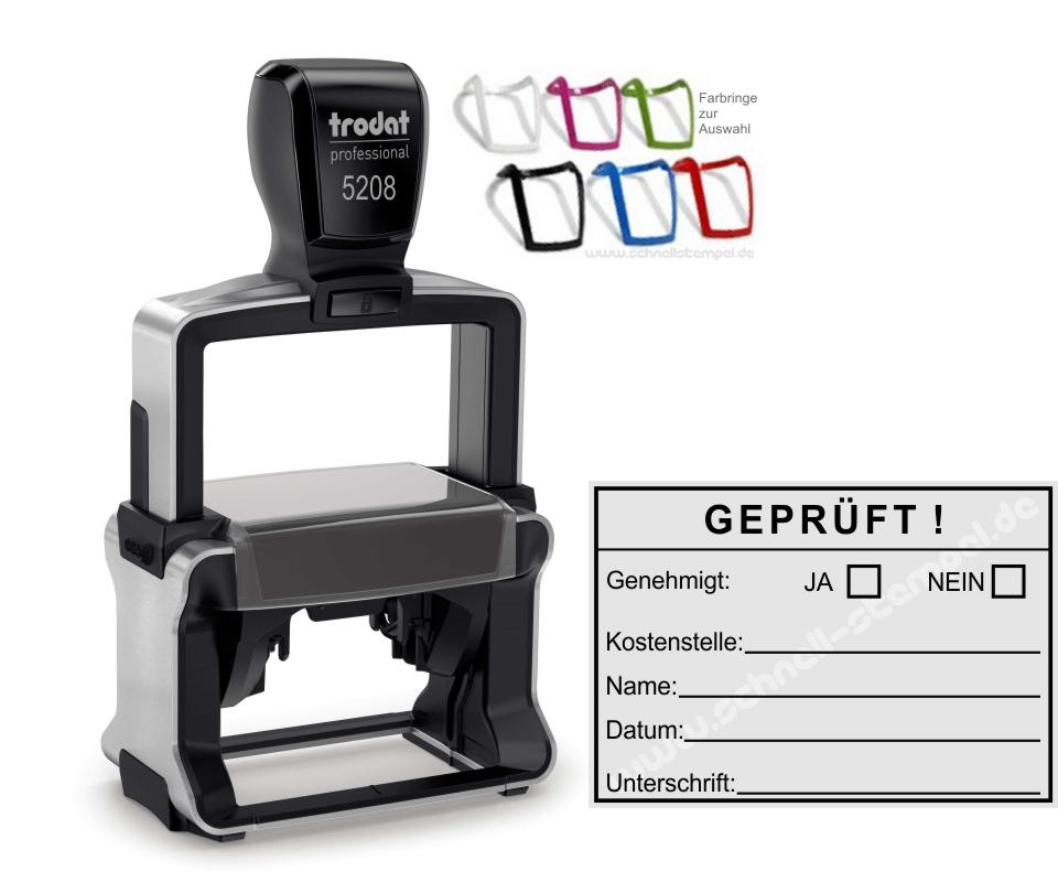 Stempel Genehmigt Trodat Printy Rot 4911 Büro Stempel Kissen Grün Papier, Büro- & Schreibwaren