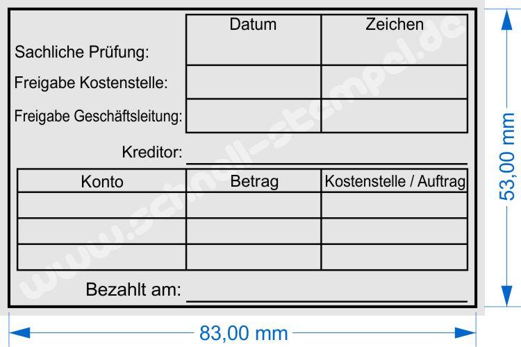 Rechnungsprüfung Kostenstelle Auftragstempel - Schnell-Stempel